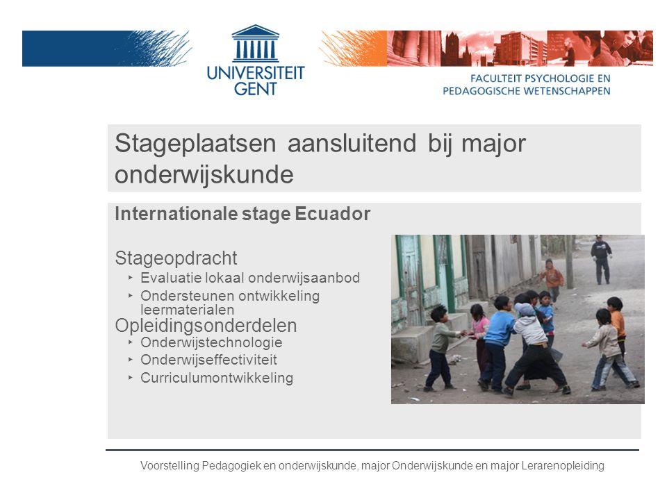 Stageplaatsen aansluitend bij major onderwijskunde