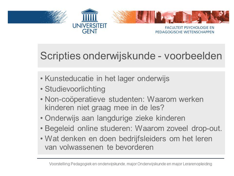 Scripties onderwijskunde - voorbeelden