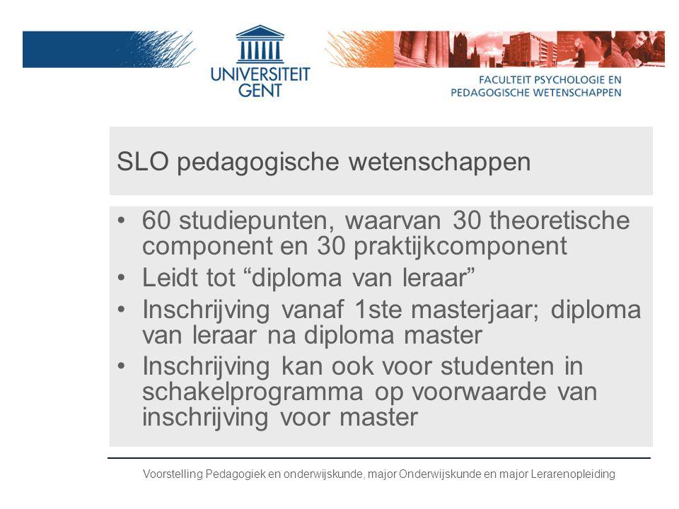 SLO pedagogische wetenschappen