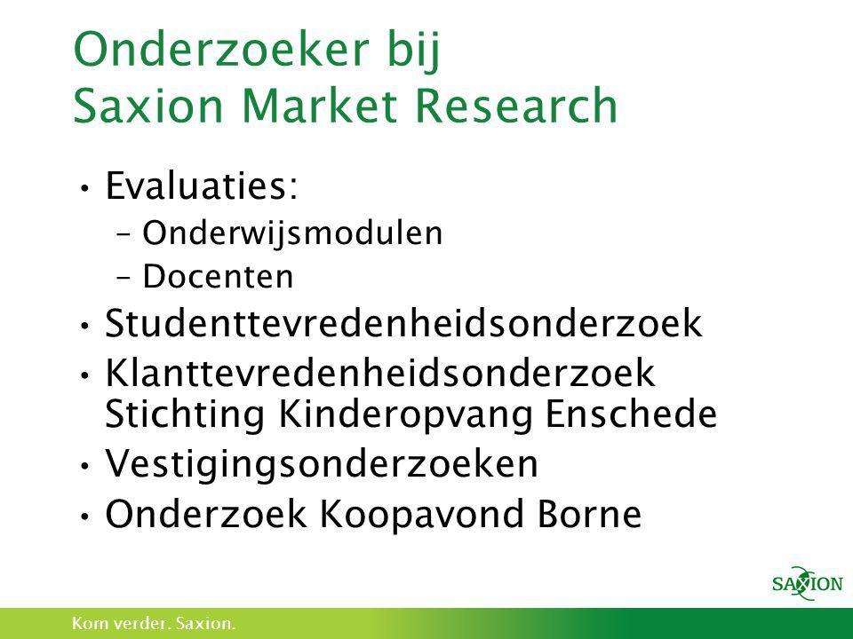 Onderzoeker bij Saxion Market Research