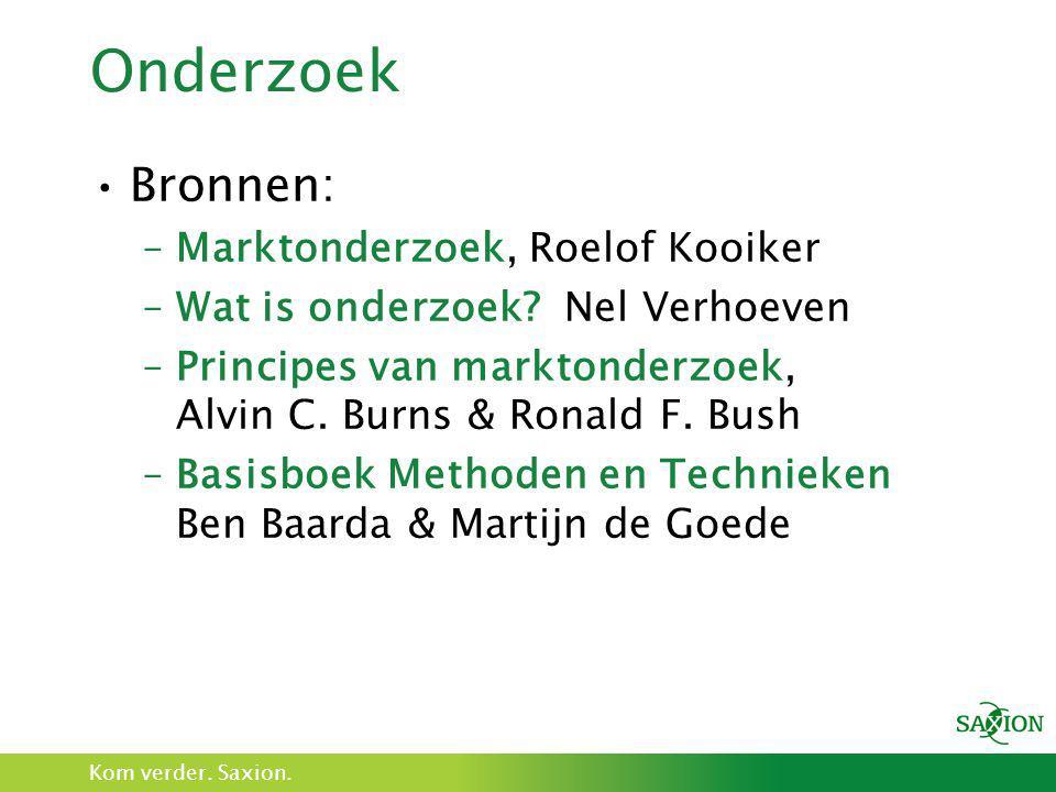 Onderzoek Bronnen: Marktonderzoek, Roelof Kooiker