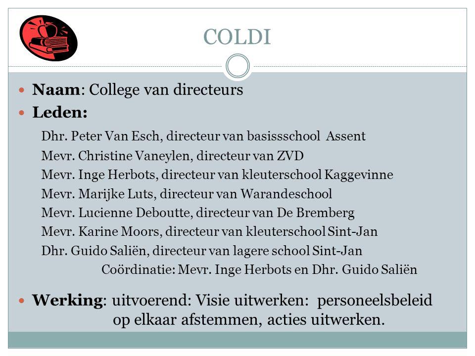 COLDI Naam: College van directeurs Leden: