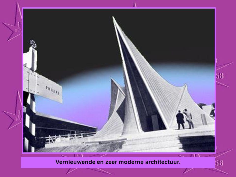 Vernieuwende en zeer moderne architectuur.