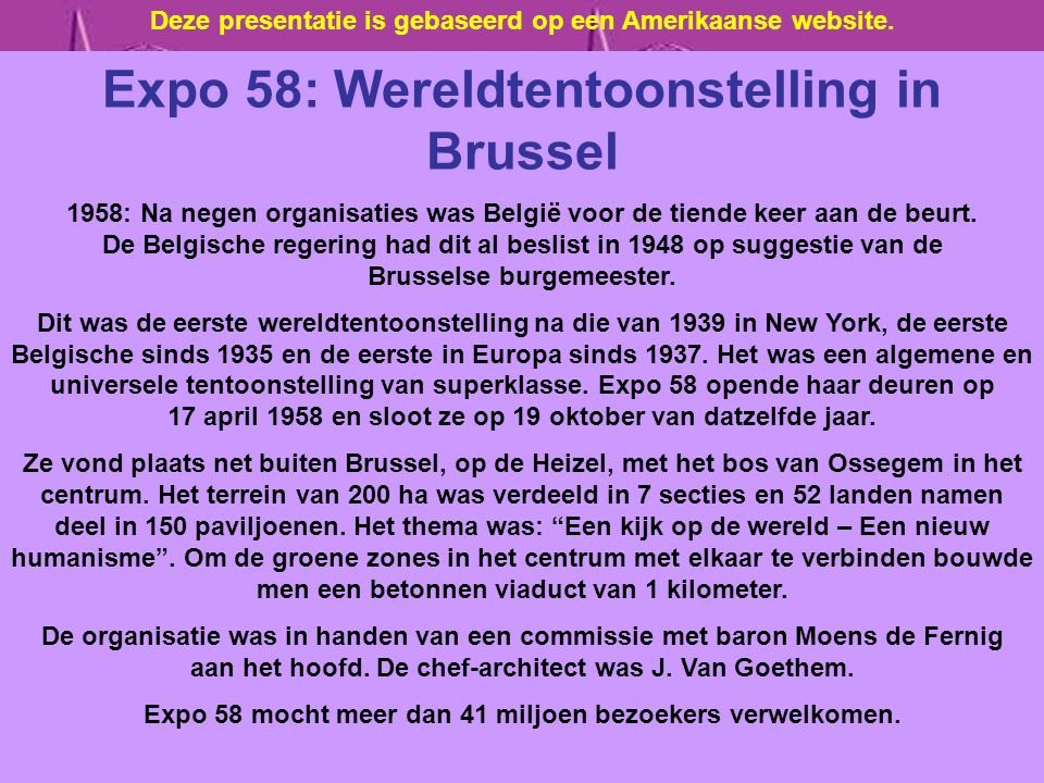 Expo 58: Wereldtentoonstelling in Brussel