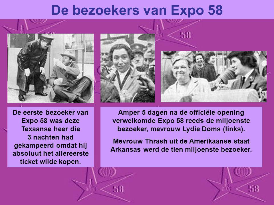 De bezoekers van Expo 58