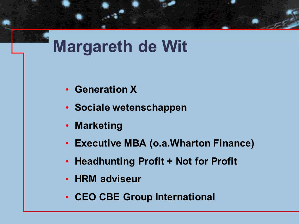 Margareth de Wit Generation X Sociale wetenschappen Marketing