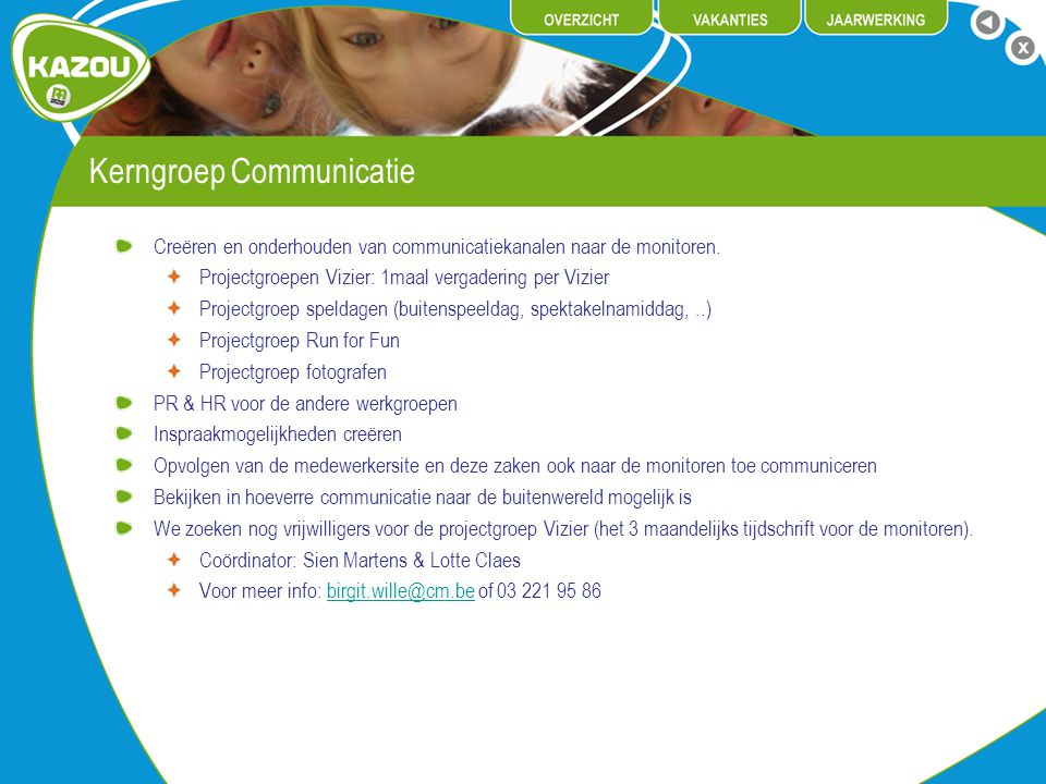 Kerngroep Communicatie