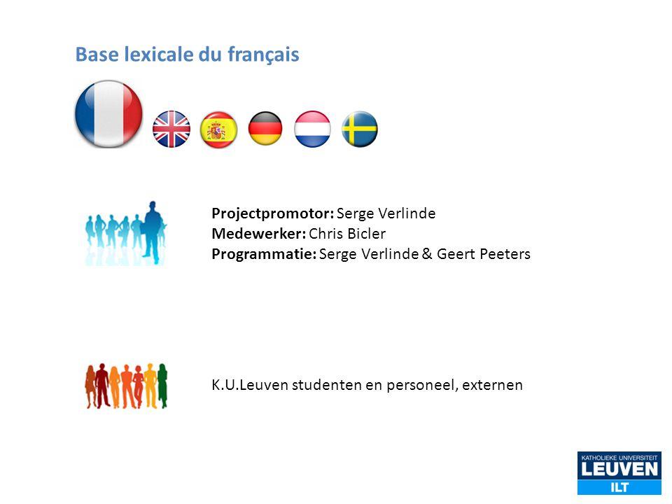 Base lexicale du français