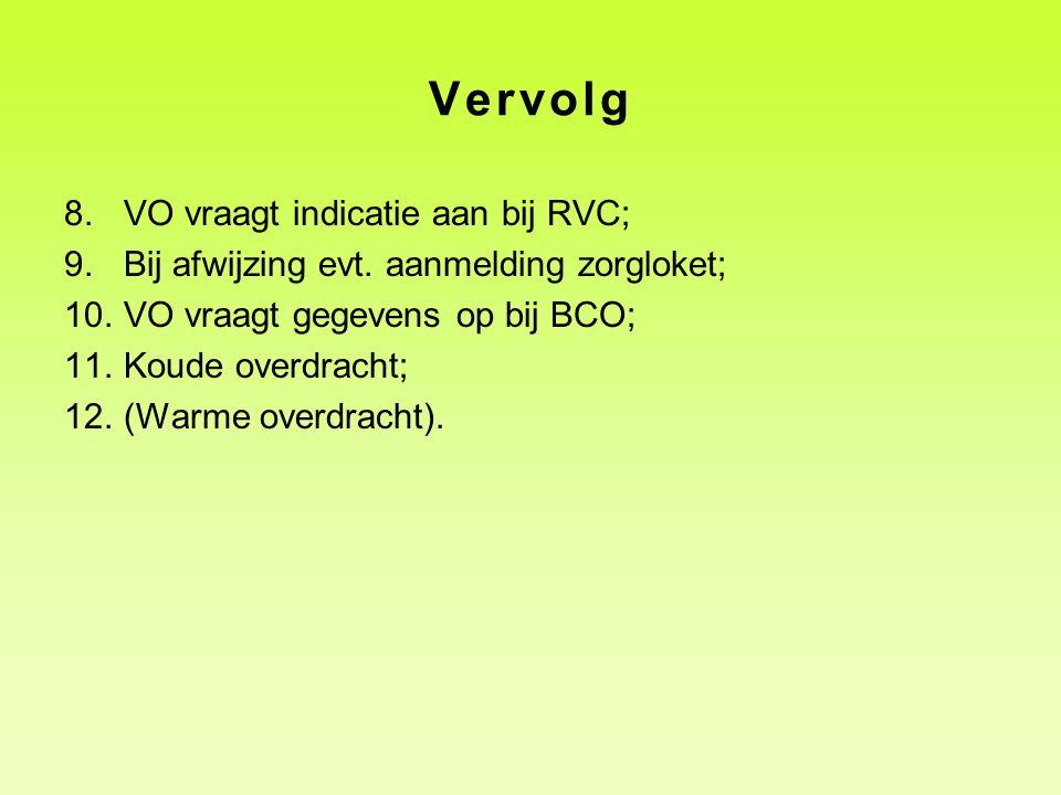 Vervolg VO vraagt indicatie aan bij RVC;