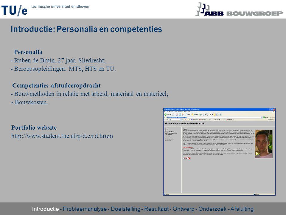 Introductie: Personalia en competenties