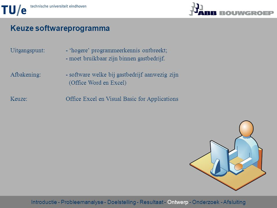 Keuze softwareprogramma
