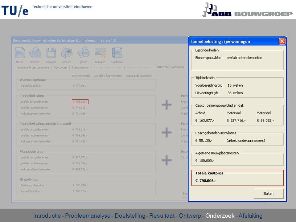 Introductie - Probleemanalyse - Doelstelling - Resultaat - Ontwerp - Onderzoek - Afsluiting