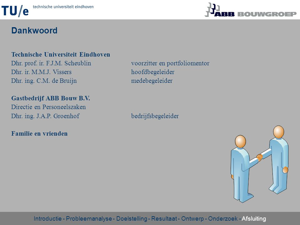Dankwoord Technische Universiteit Eindhoven