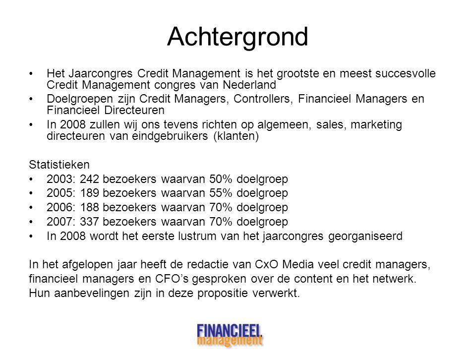 Achtergrond Het Jaarcongres Credit Management is het grootste en meest succesvolle Credit Management congres van Nederland.