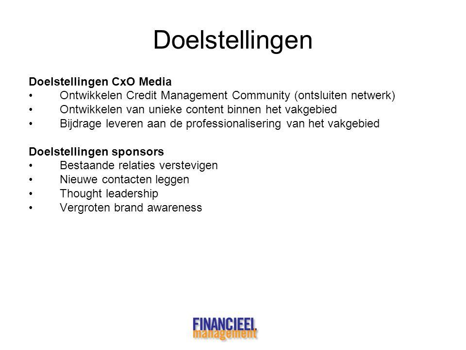 Doelstellingen Doelstellingen CxO Media