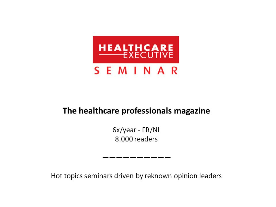 The healthcare professionals magazine