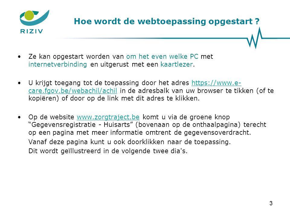 Hoe wordt de webtoepassing opgestart