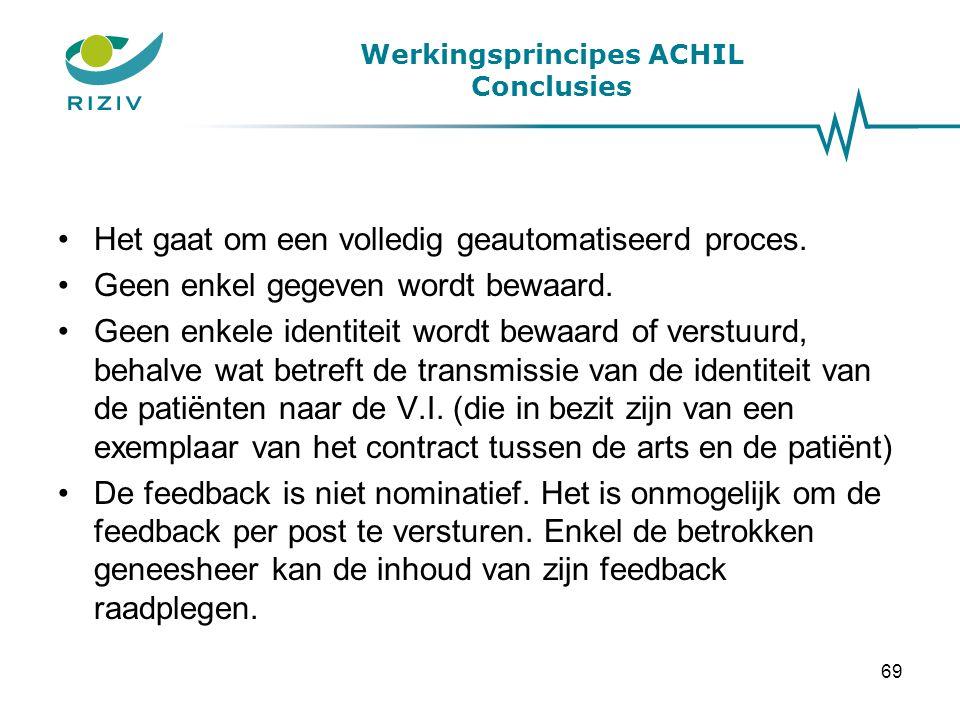 Werkingsprincipes ACHIL Conclusies