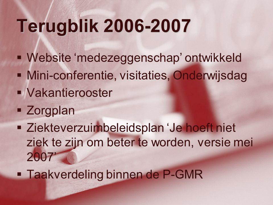 Terugblik 2006-2007 Website 'medezeggenschap' ontwikkeld