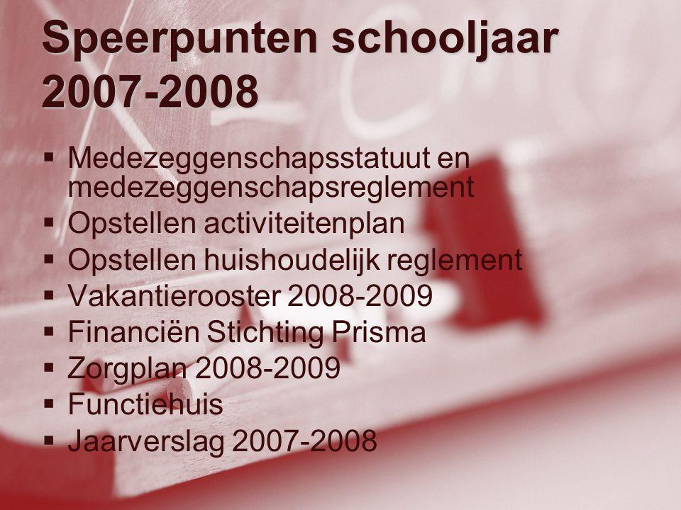 Speerpunten schooljaar 2007-2008