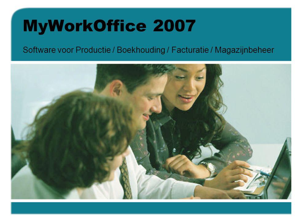 Software voor Productie / Boekhouding / Facturatie / Magazijnbeheer
