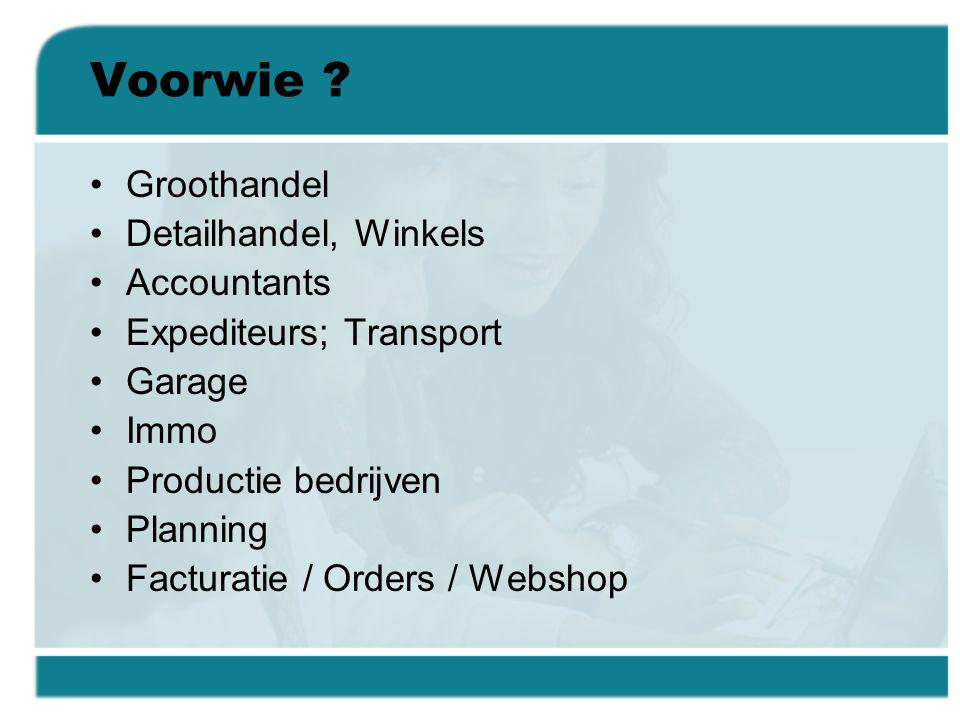 Voorwie Groothandel Detailhandel, Winkels Accountants
