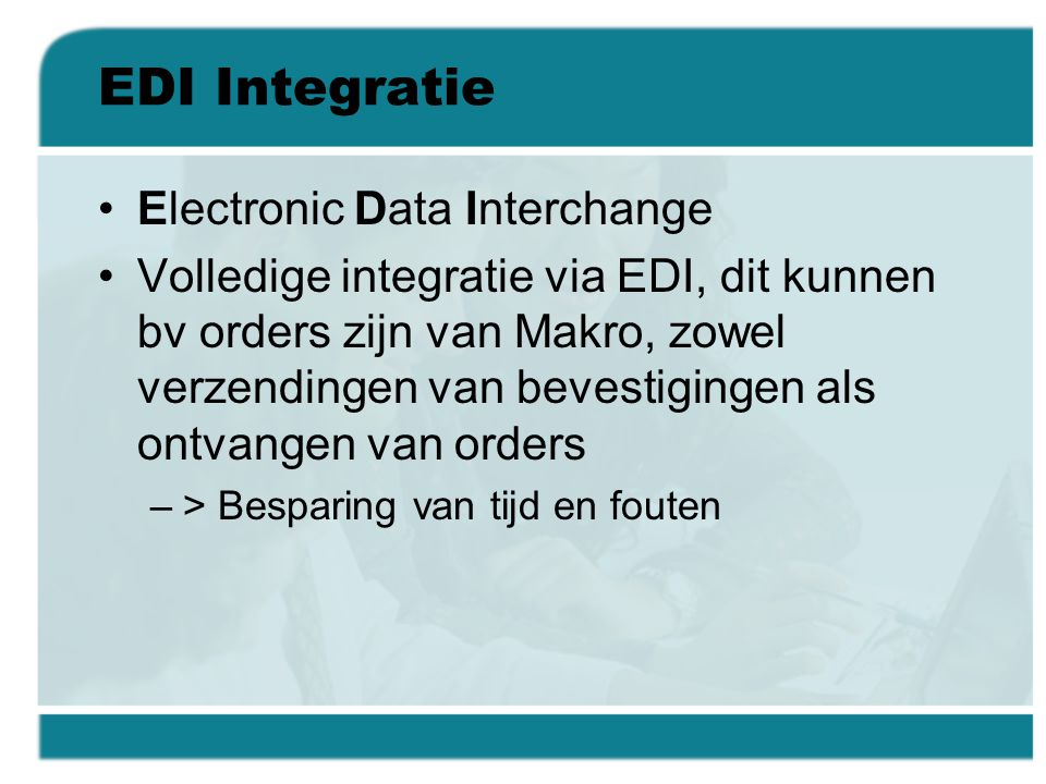 EDI Integratie Electronic Data Interchange