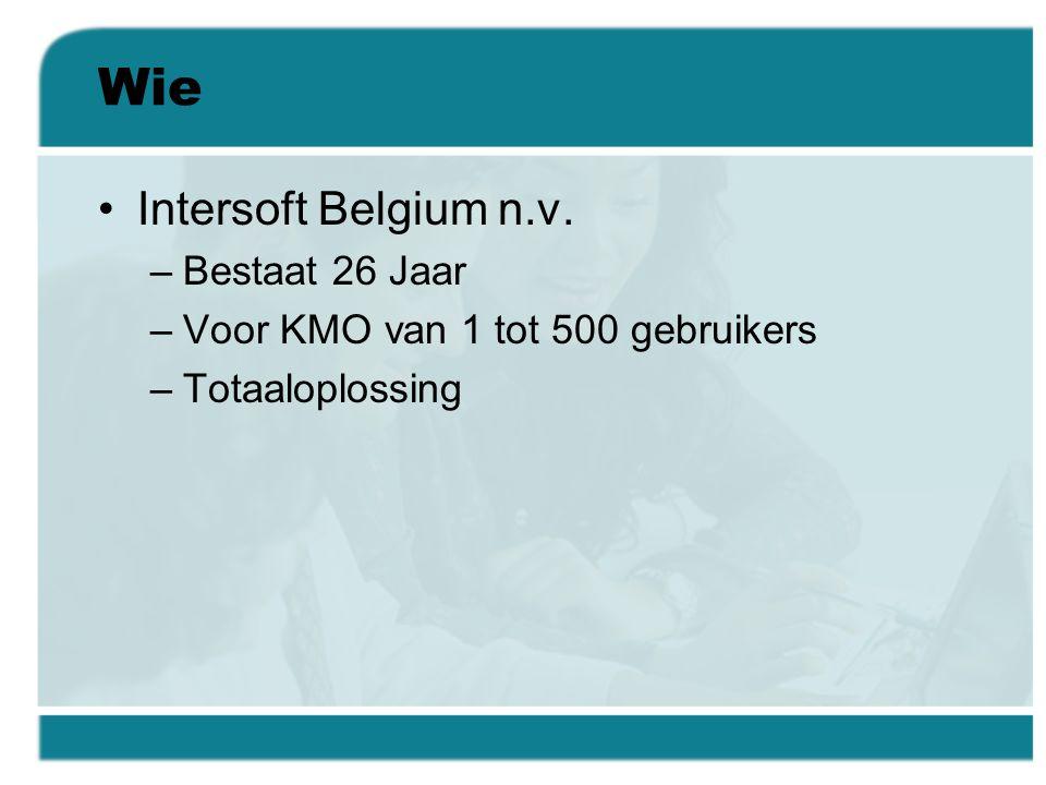 Wie Intersoft Belgium n.v. Bestaat 26 Jaar