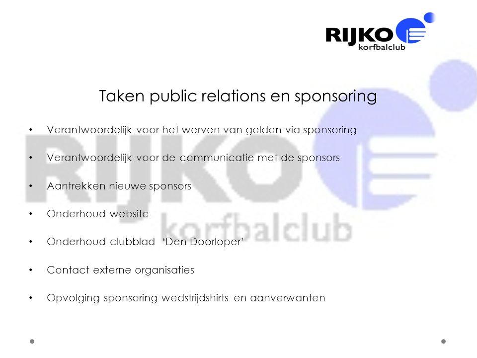 Taken public relations en sponsoring