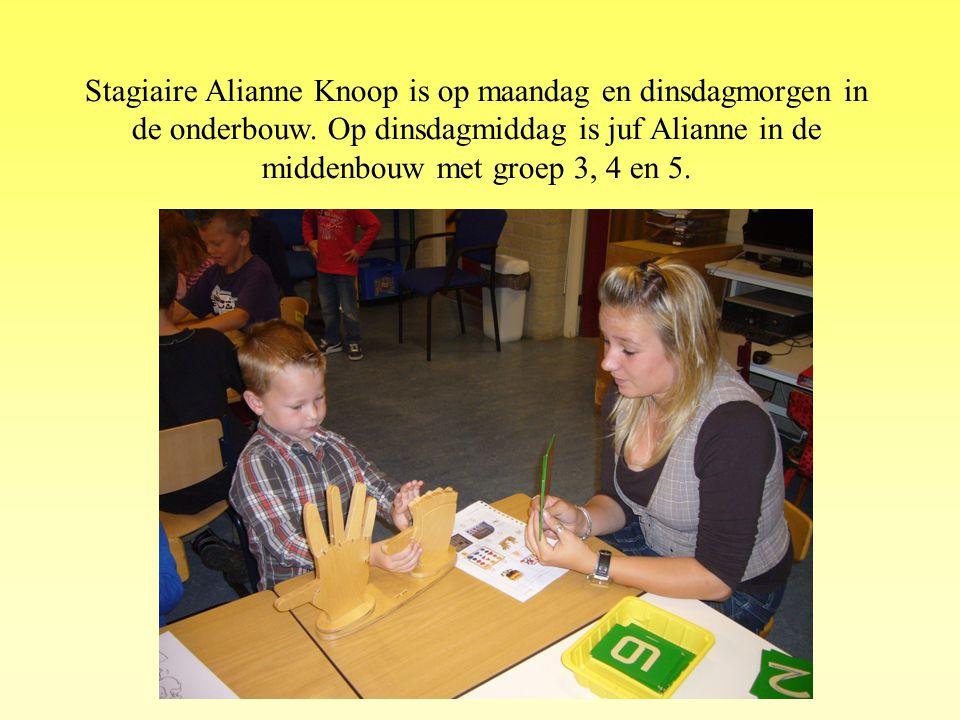 Stagiaire Alianne Knoop is op maandag en dinsdagmorgen in de onderbouw