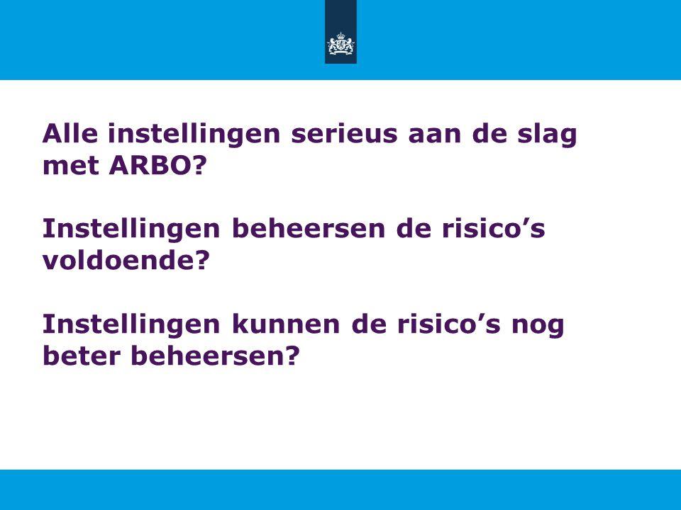 Alle instellingen serieus aan de slag met ARBO