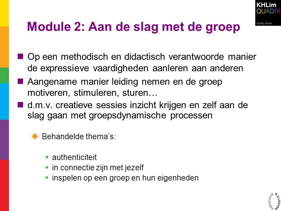 Module 2: Aan de slag met de groep