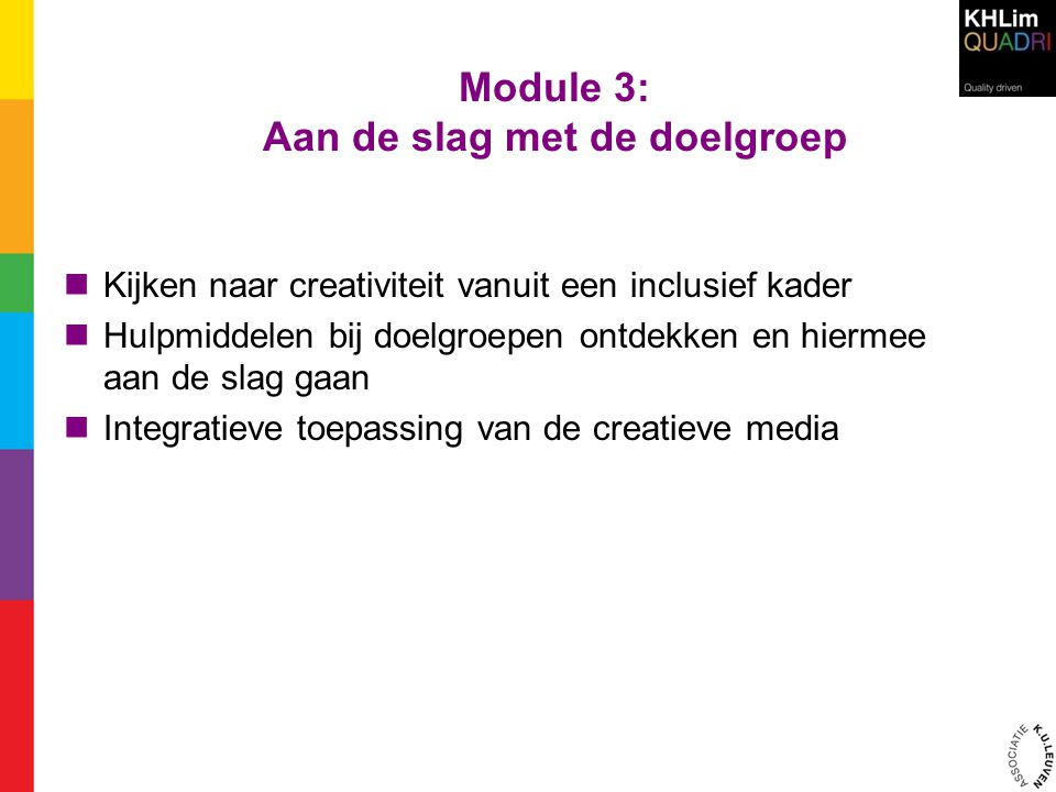 Module 3: Aan de slag met de doelgroep
