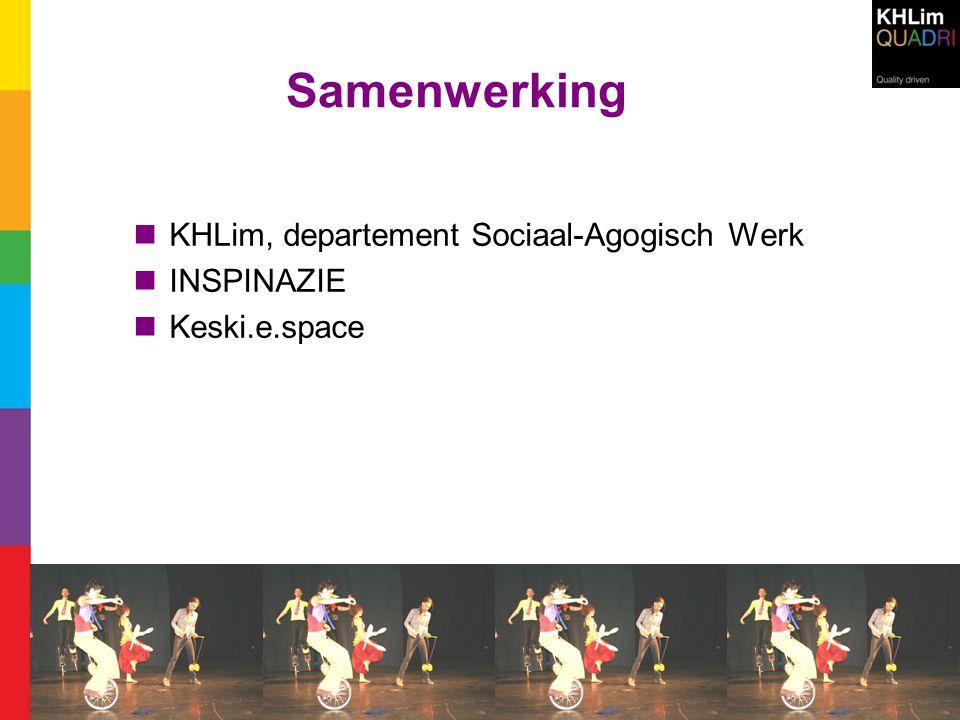 Samenwerking KHLim, departement Sociaal-Agogisch Werk INSPINAZIE