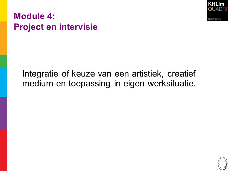 Module 4: Project en intervisie