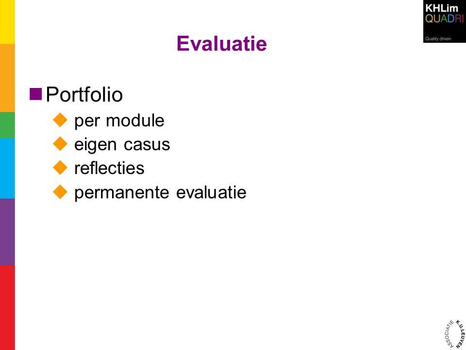 Evaluatie Portfolio per module eigen casus reflecties
