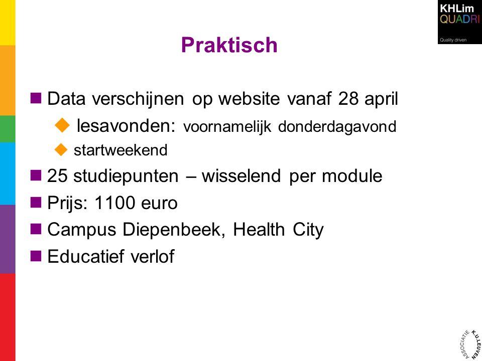 Praktisch Data verschijnen op website vanaf 28 april