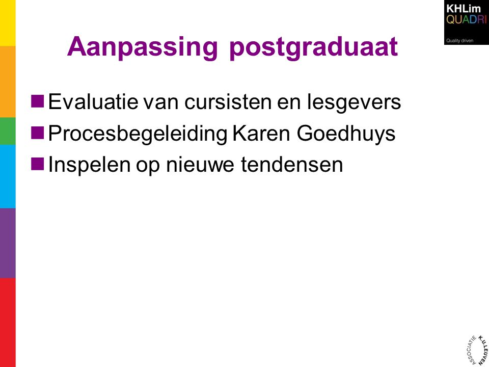 Aanpassing postgraduaat