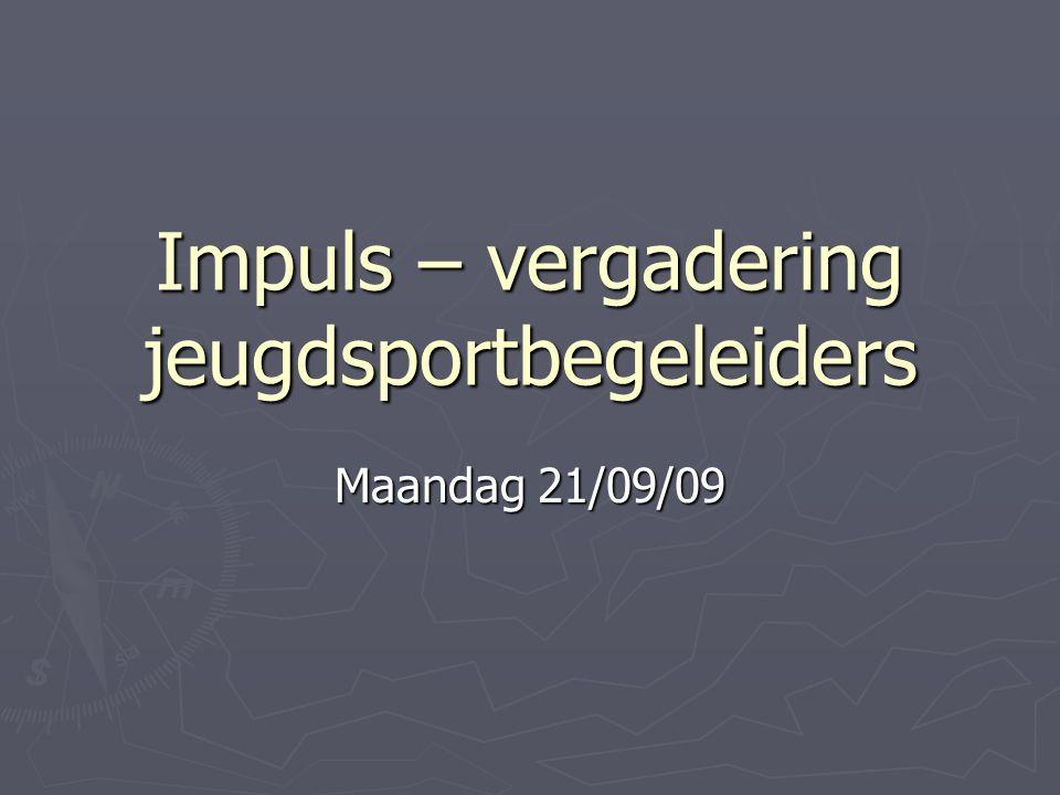 Impuls – vergadering jeugdsportbegeleiders