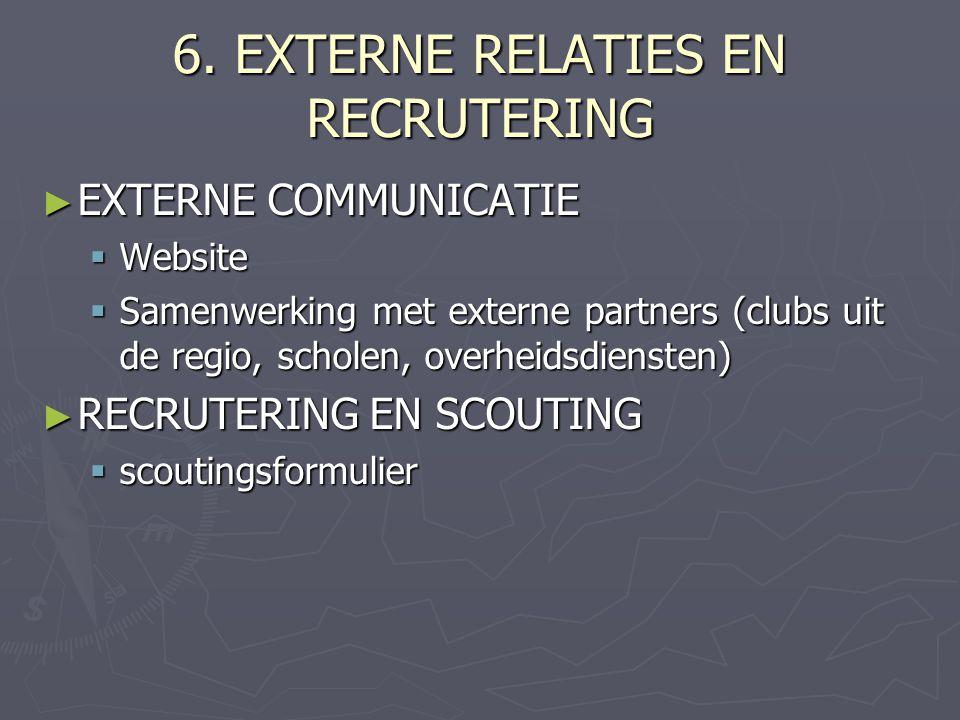 6. EXTERNE RELATIES EN RECRUTERING