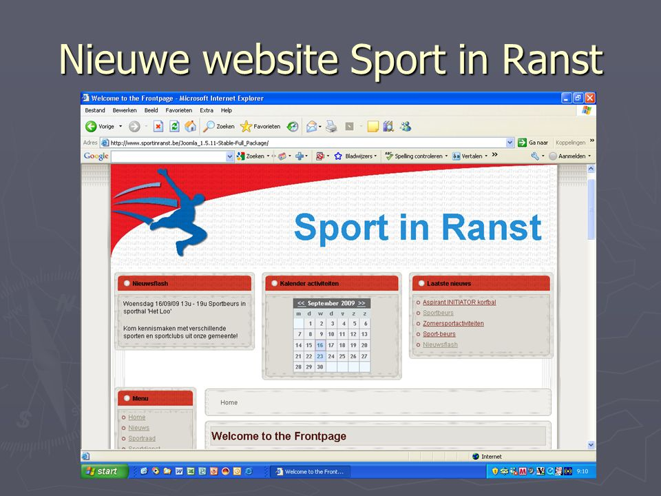 Nieuwe website Sport in Ranst