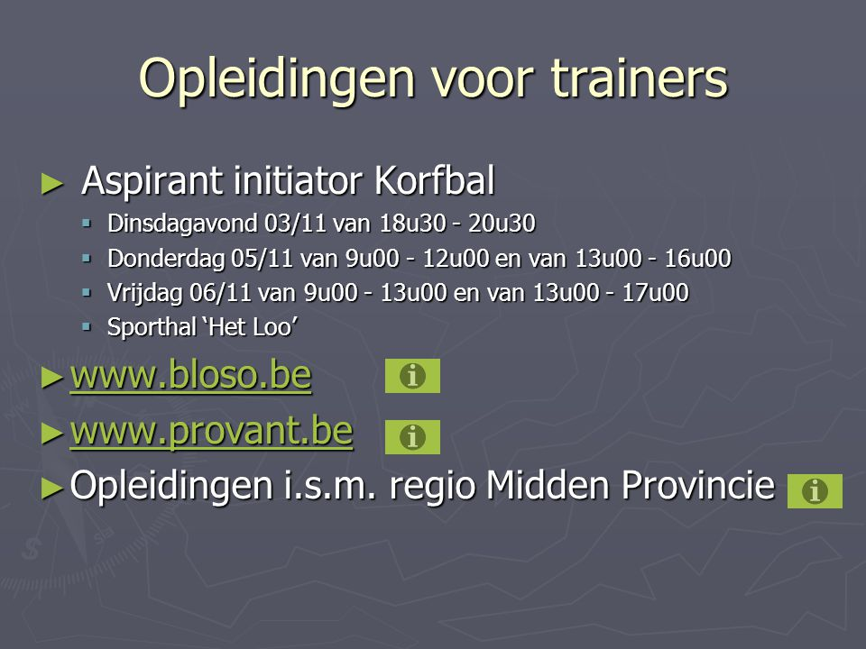 Opleidingen voor trainers