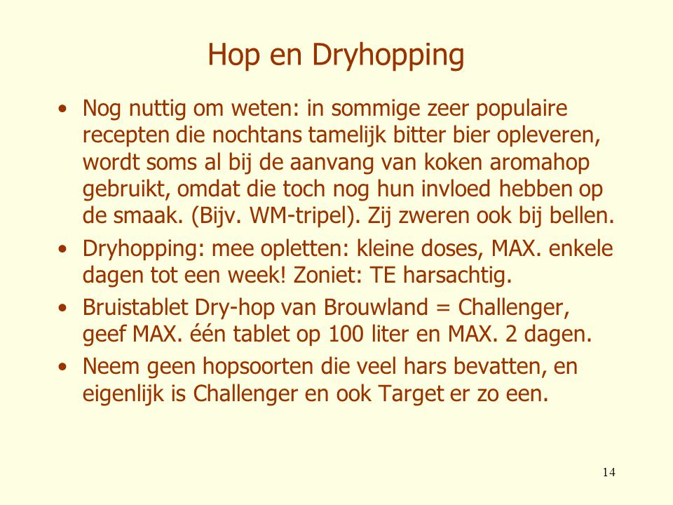 Hop en Dryhopping