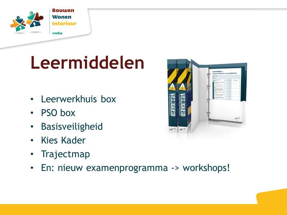 Leermiddelen Leerwerkhuis box PSO box Basisveiligheid Kies Kader