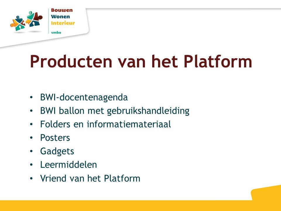 Producten van het Platform