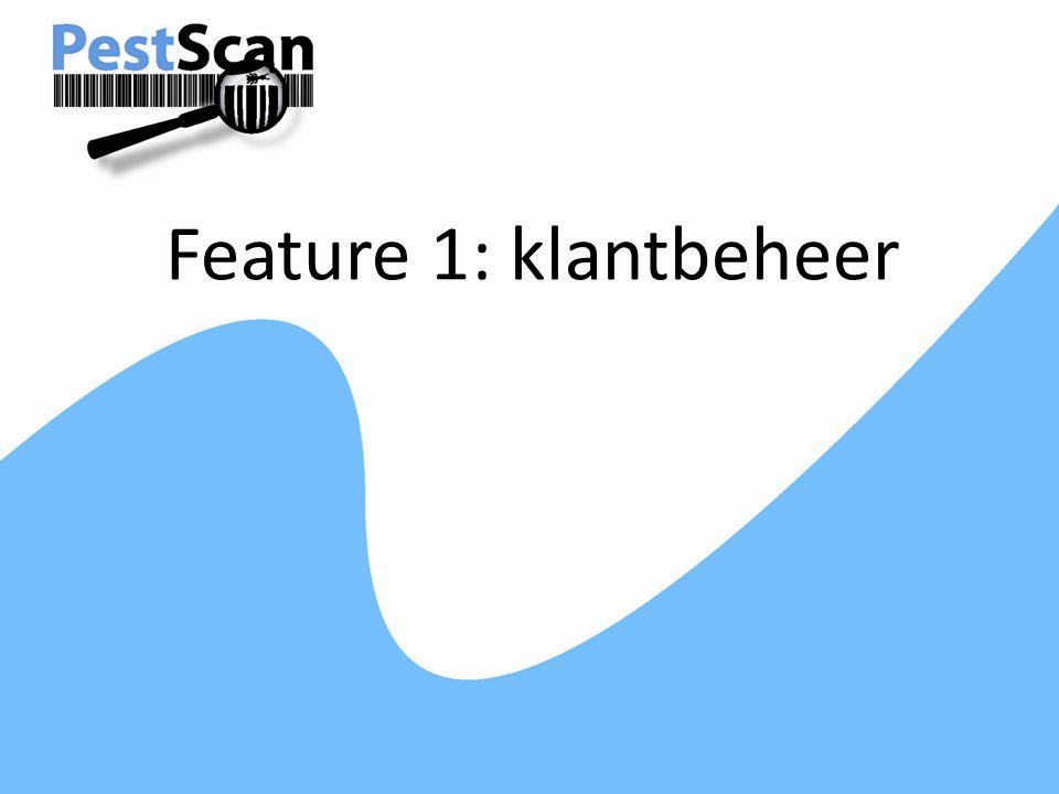 Feature 1: klantbeheer