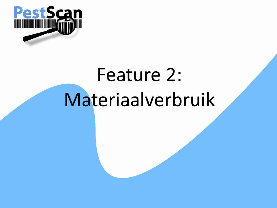 Feature 2: Materiaalverbruik