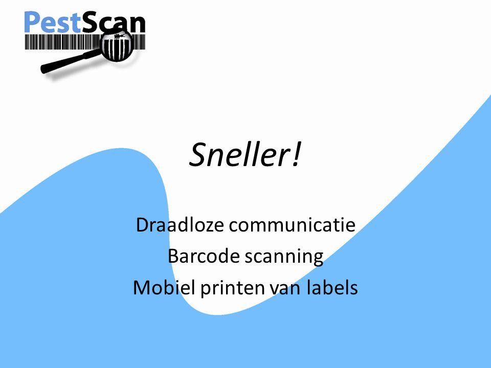 Draadloze communicatie Barcode scanning Mobiel printen van labels