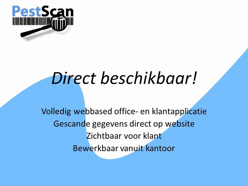 Direct beschikbaar! Volledig webbased office- en klantapplicatie
