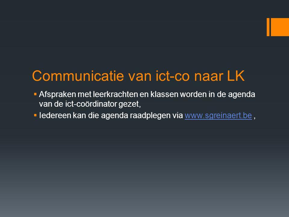 Communicatie van ict-co naar LK